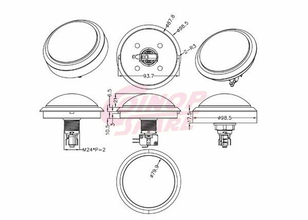 LED Illuminated Arcade Push Button Switch Wiring   Coinopspare